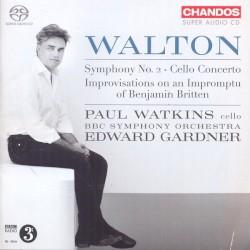 Symphony no. 2 / Cello Concerto / Improvisations on an Impromptu of Benjamin Britten by Walton ;   Paul Watkins ,   BBC Symphony Orchestra ,   Edward Gardner