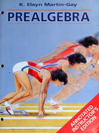 Cover of: Prealgebra   K. Elayn Martin-Gay